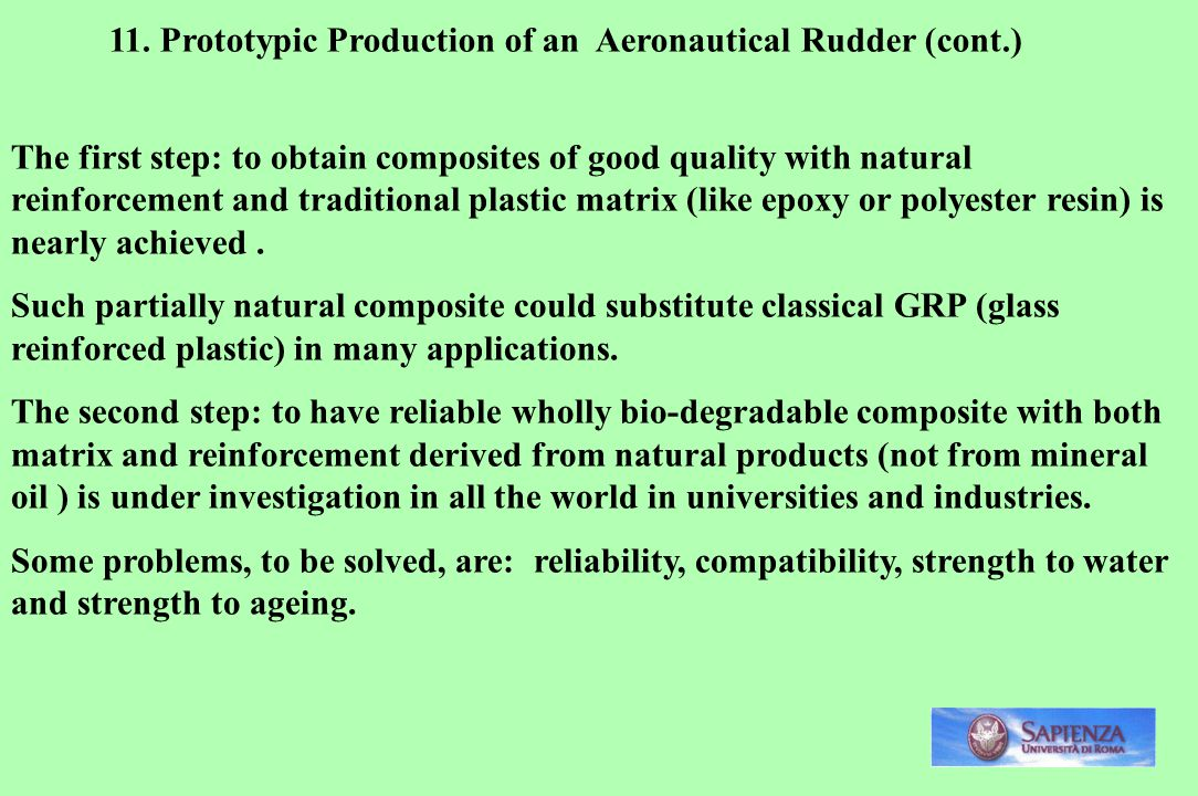11. Prototypic Production of an Aeronautical Rudder (cont.)