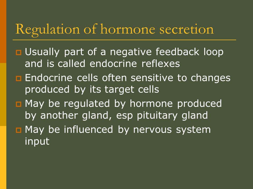 Regulation of hormone secretion