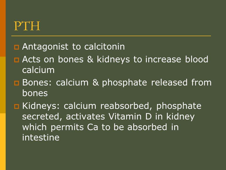 PTH Antagonist to calcitonin