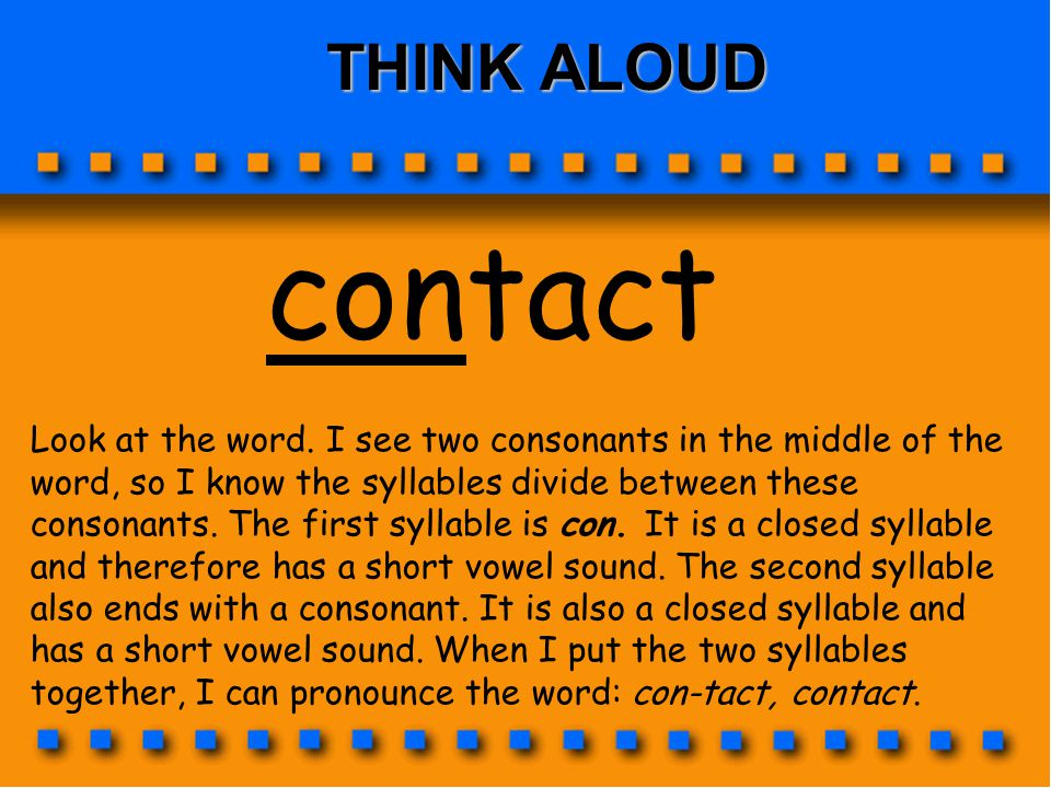 THINK ALOUD contact.
