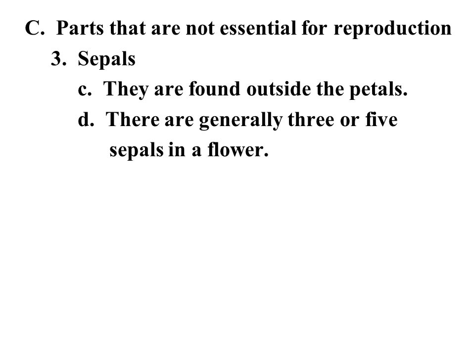 C. Parts that are not essential for reproduction