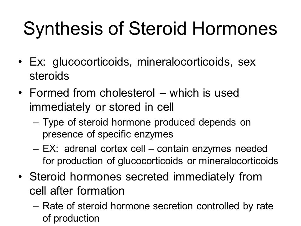 Synthesis of Steroid Hormones