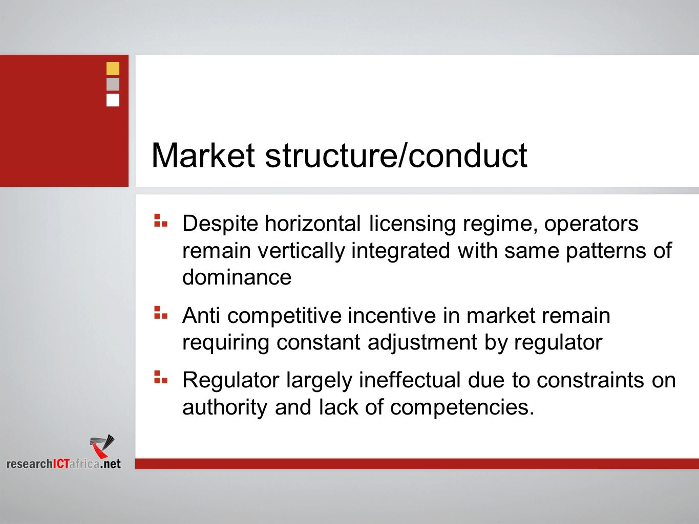 Market structure/conduct