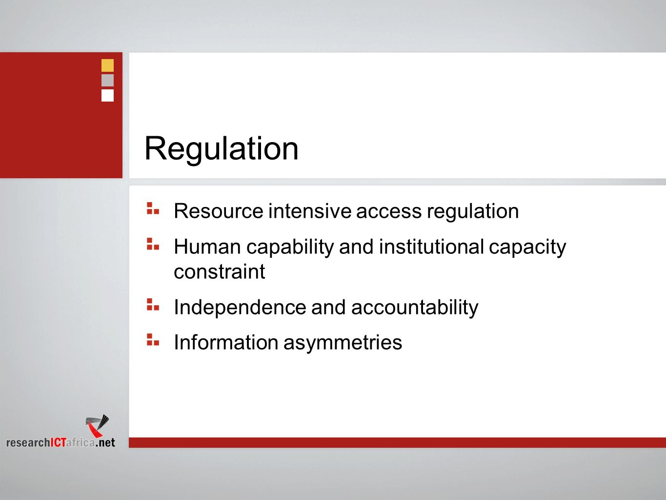 Regulation Resource intensive access regulation