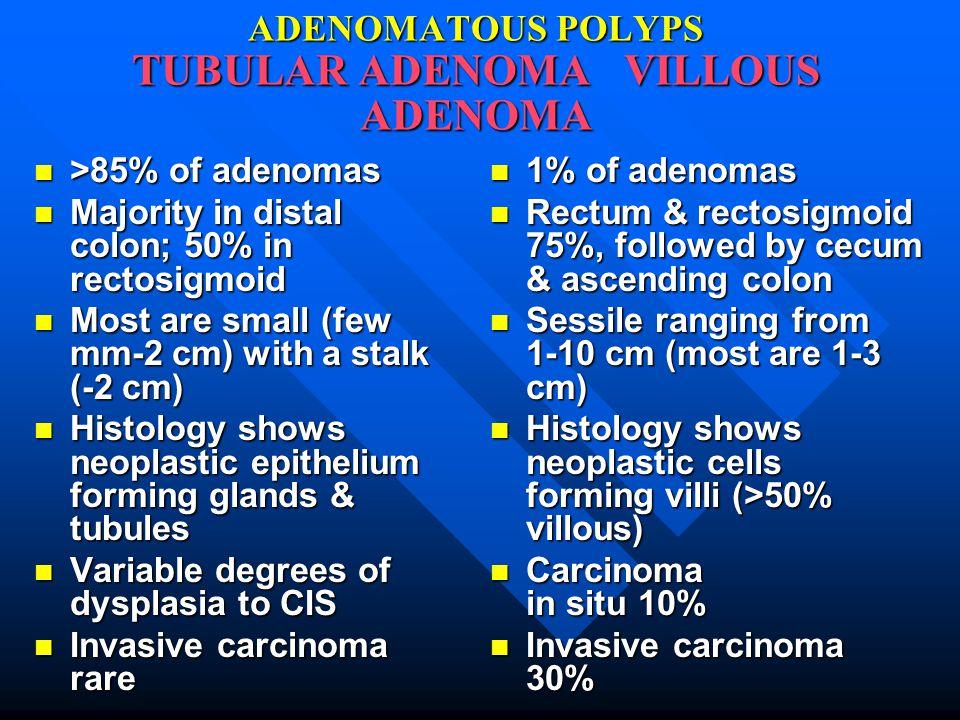 ADENOMATOUS POLYPS TUBULAR ADENOMA VILLOUS ADENOMA