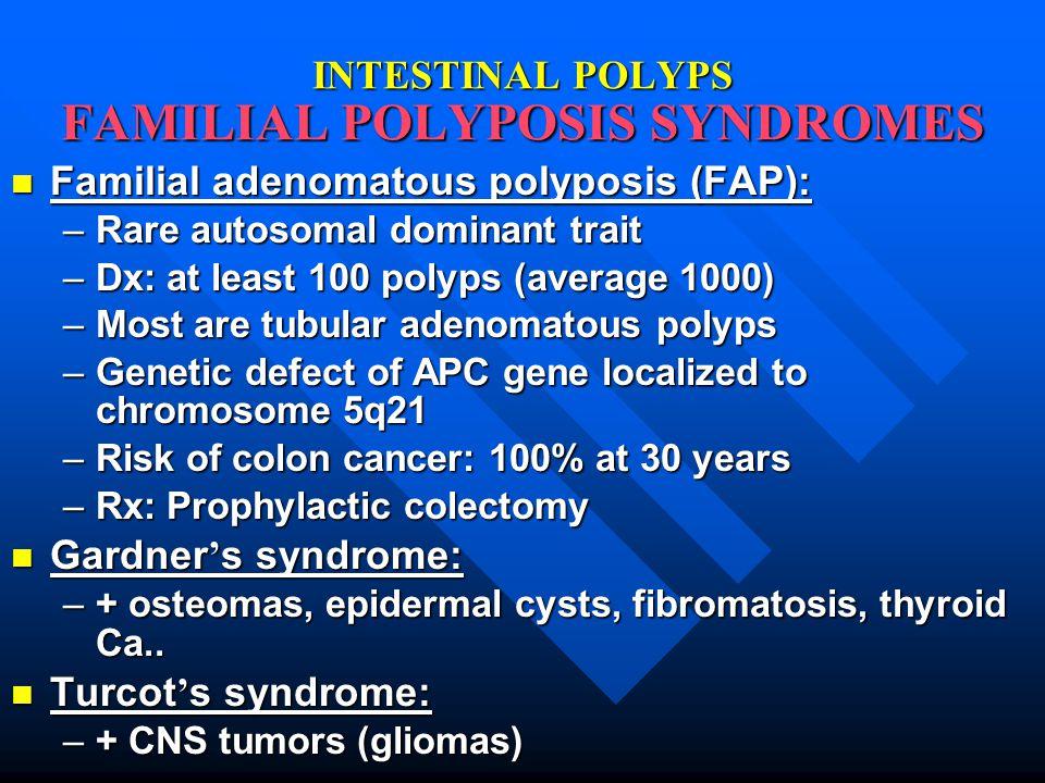 INTESTINAL POLYPS FAMILIAL POLYPOSIS SYNDROMES