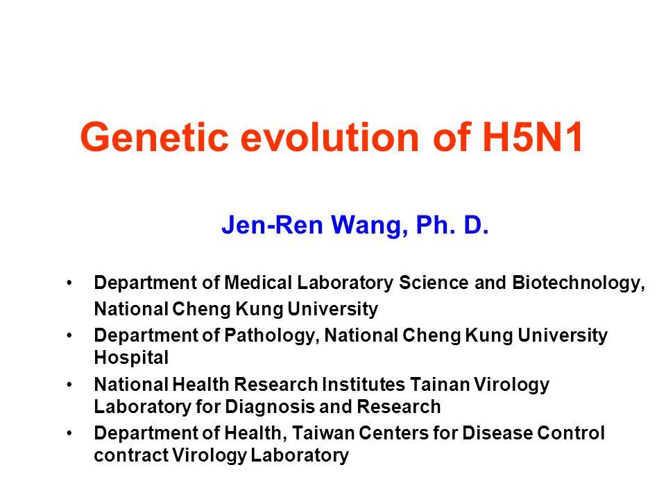 Genetic evolution of H5N1