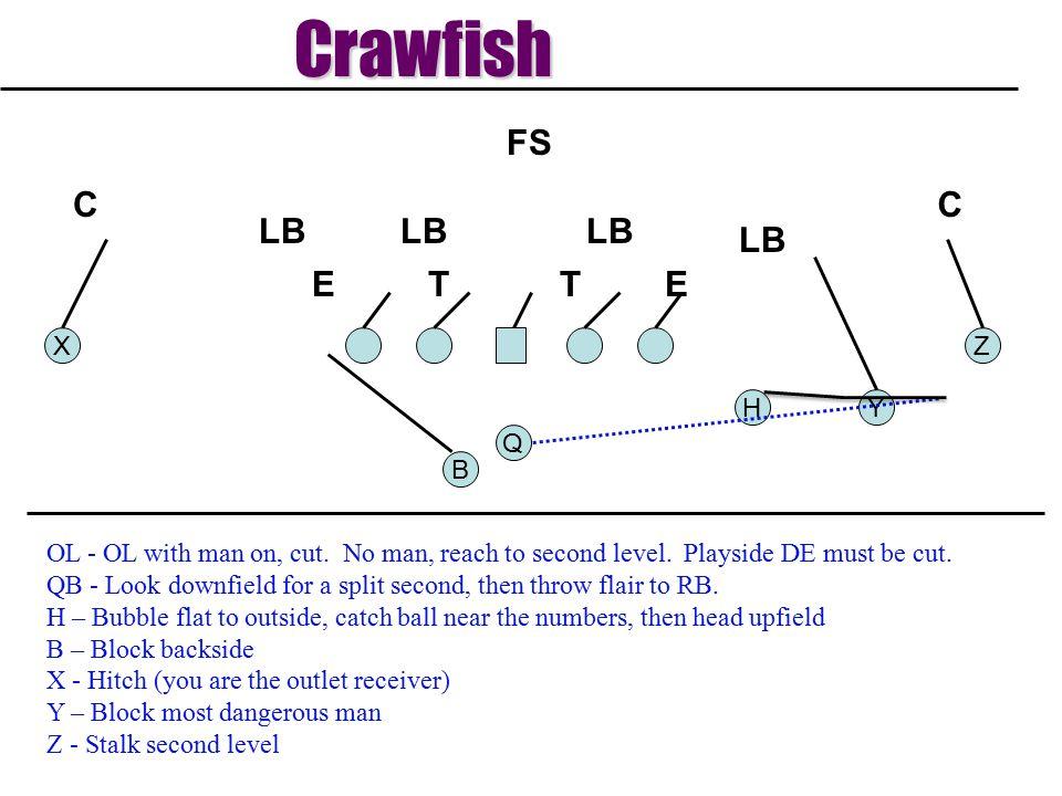 Crawfish T E LB C FS X Z H Y Q B