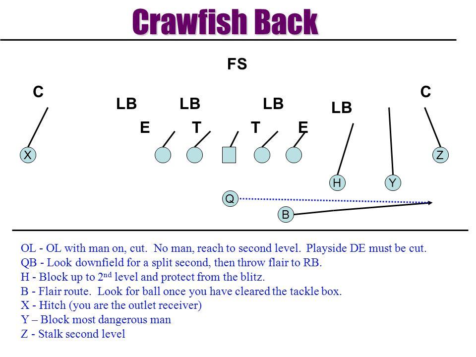 Crawfish Back T E LB C FS X Z H Y Q B