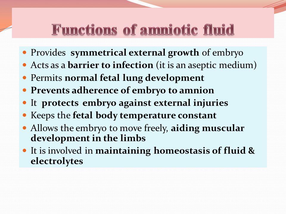 Functions of amniotic fluid