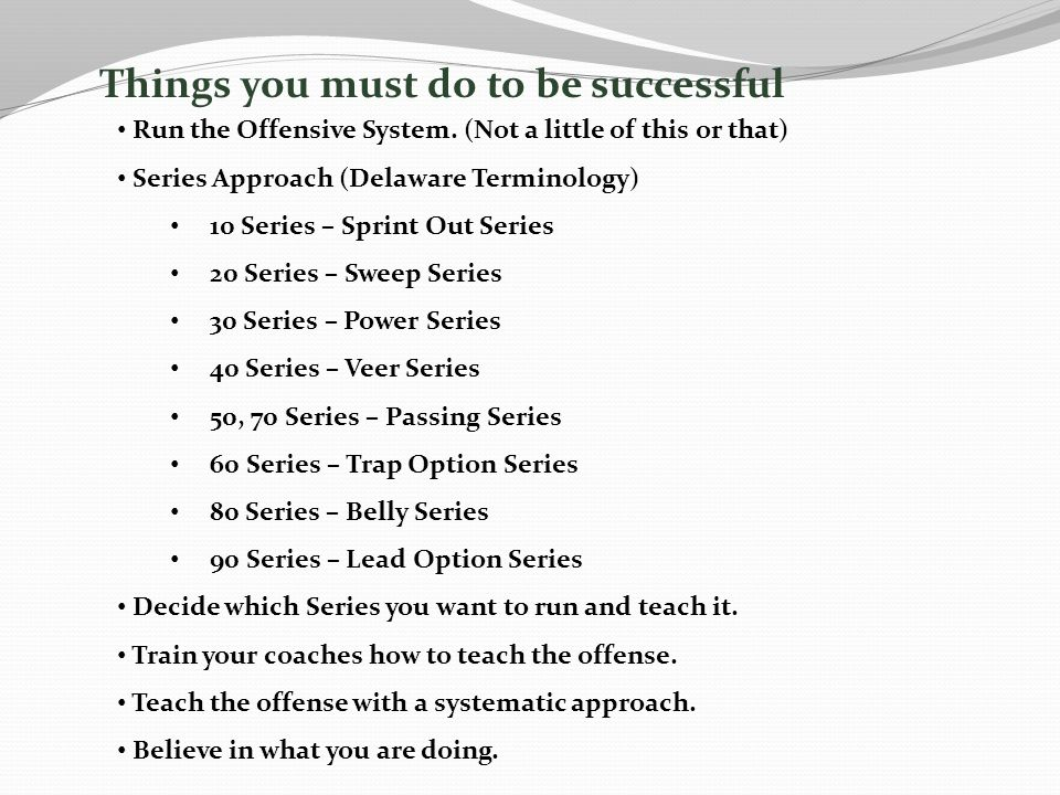 Things you must do to be successful