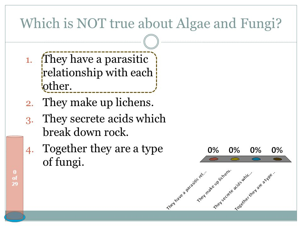 Which is NOT true about Algae and Fungi
