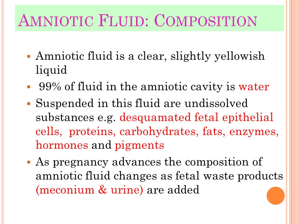 Amniotic Fluid: Composition