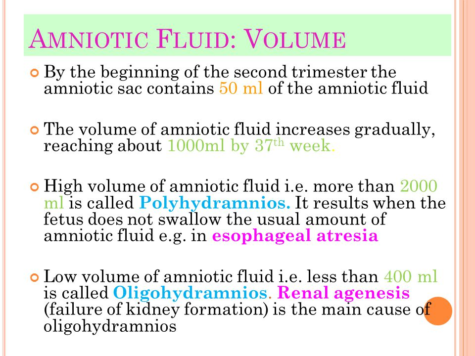 Amniotic Fluid: Volume