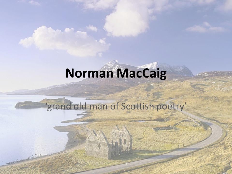 'grand old man of Scottish poetry'