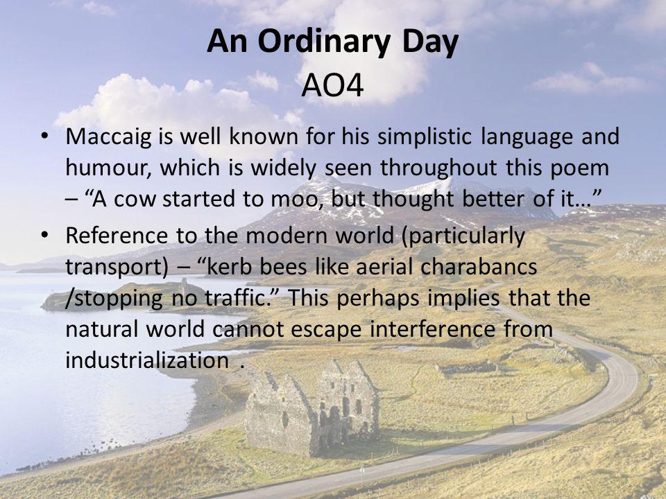 An Ordinary Day AO4