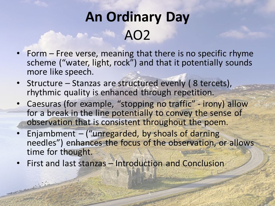 An Ordinary Day AO2