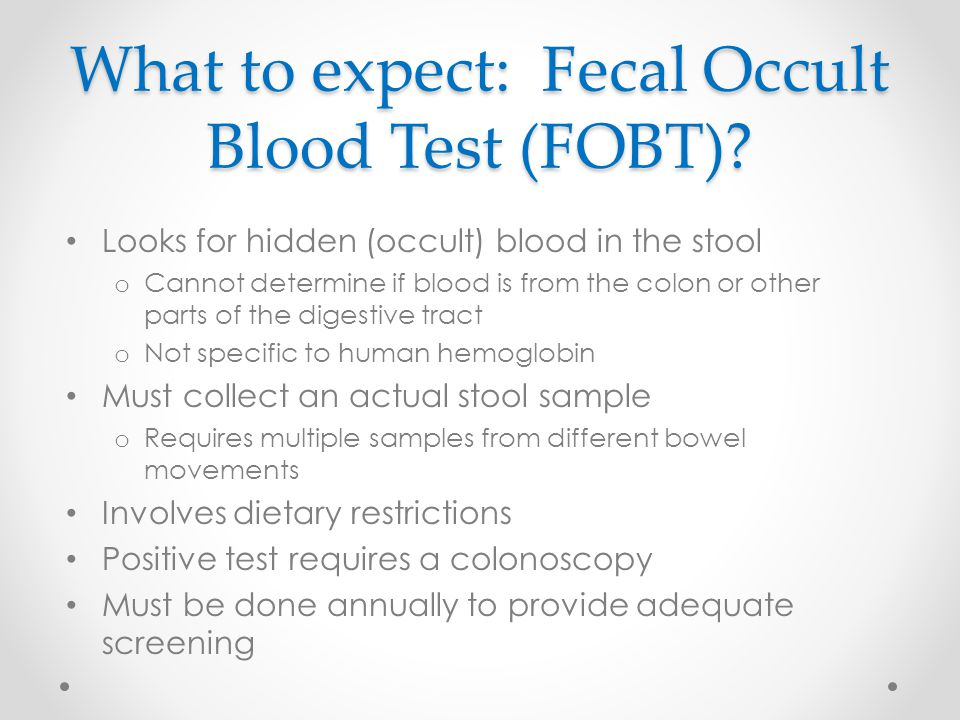 What to expect: Fecal Occult Blood Test (FOBT)