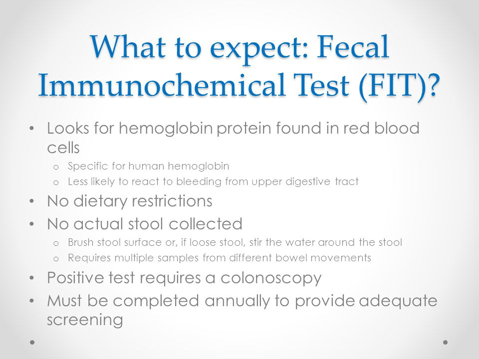 What to expect: Fecal Immunochemical Test (FIT)
