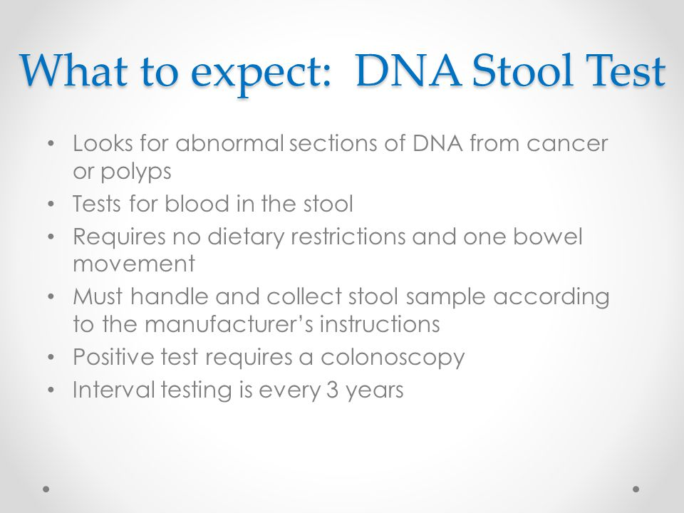 What to expect: DNA Stool Test