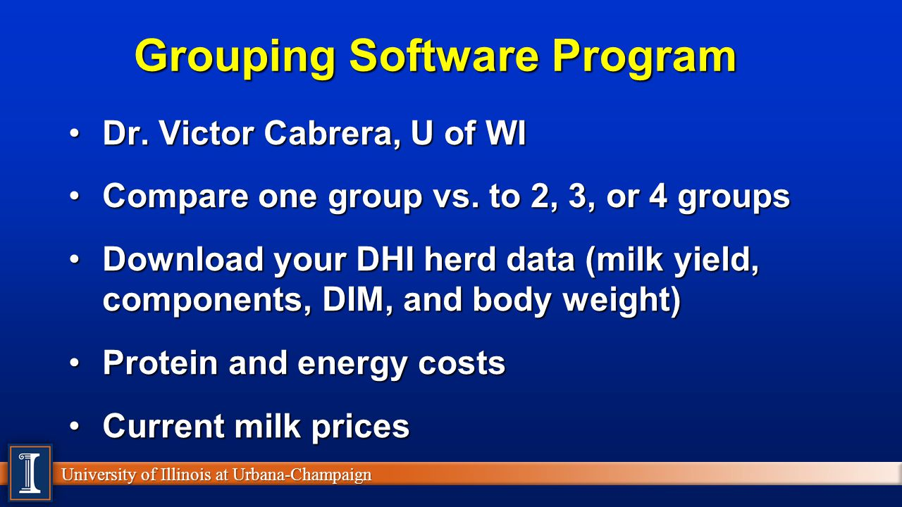 Grouping Software Program