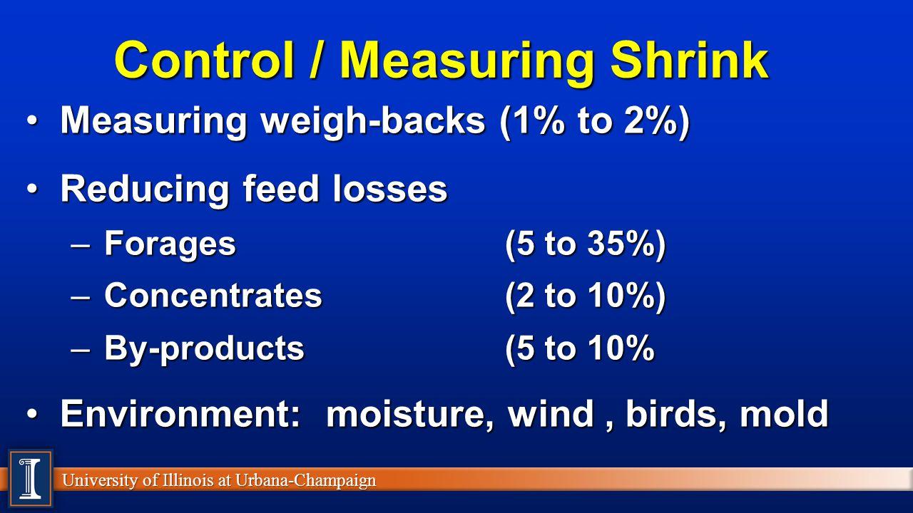 Control / Measuring Shrink