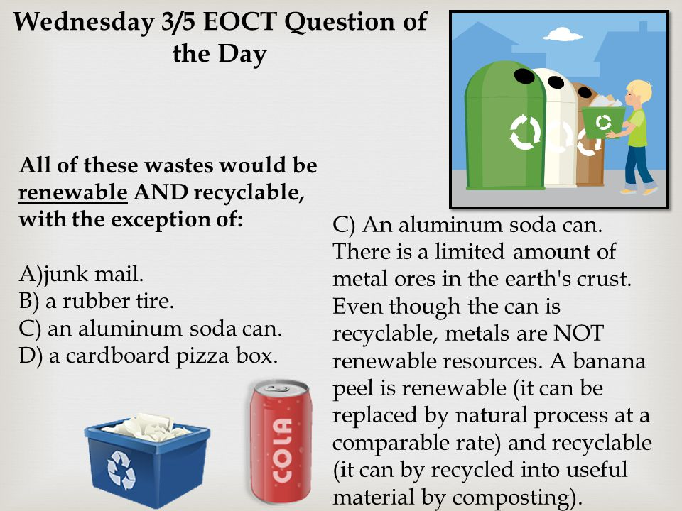 Wednesday 3/5 EOCT Question of the Day
