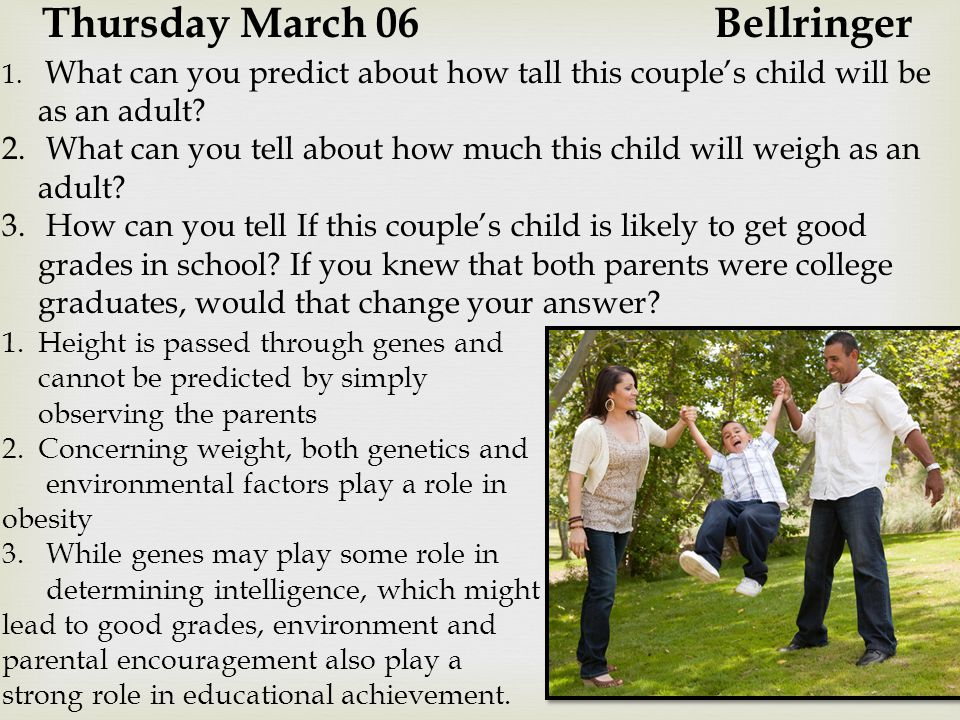 Thursday March 06 Bellringer