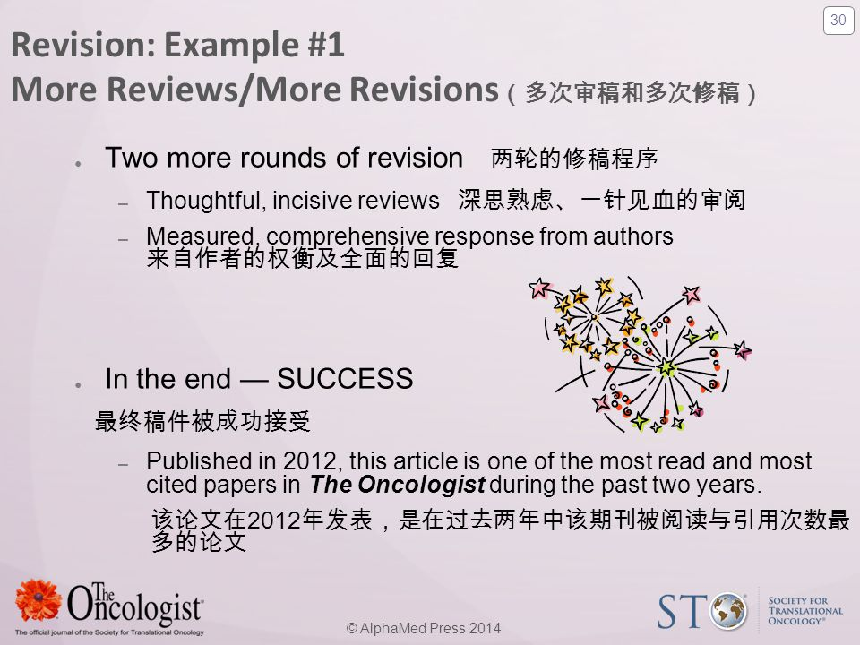Revision: Example #1 More Reviews/More Revisions(多次审稿和多次修稿)