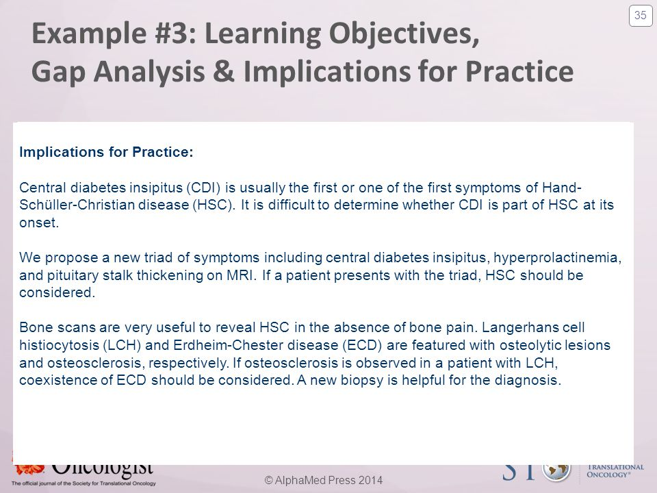 Example #3: Learning Objectives, Gap Analysis & Implications for Practice