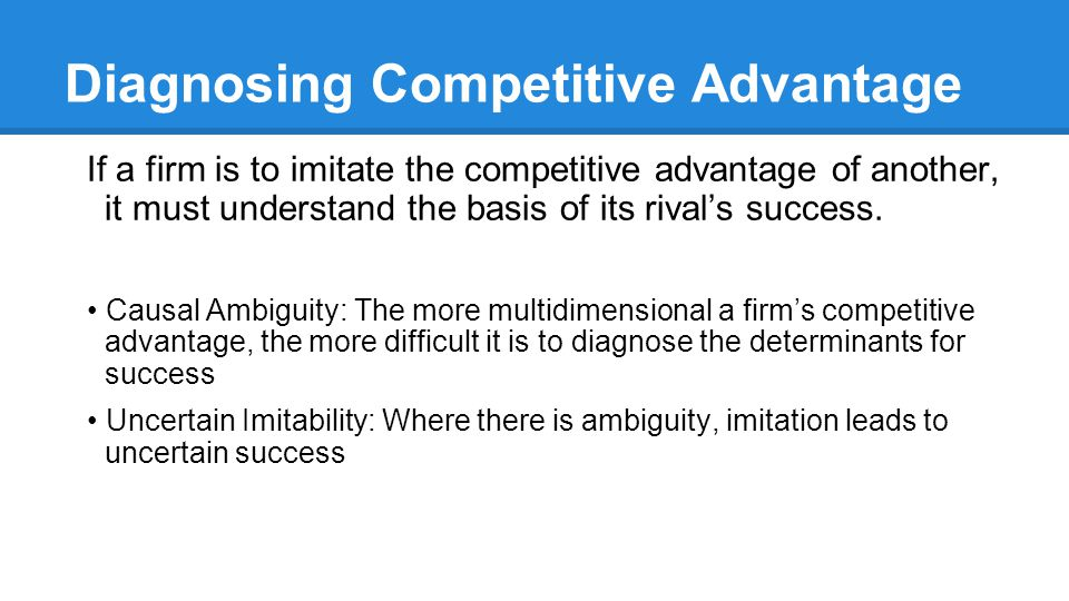 Diagnosing Competitive Advantage