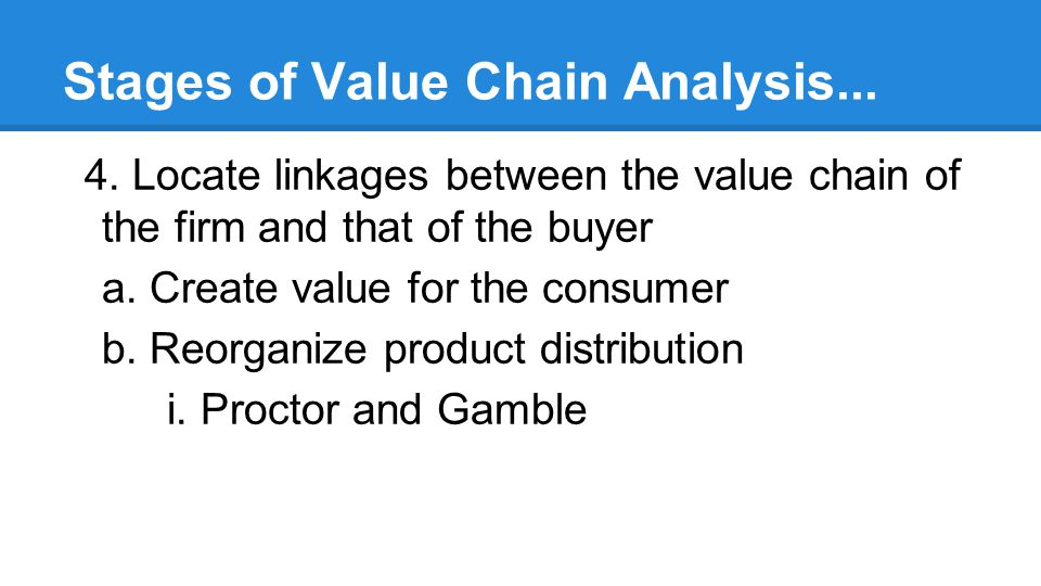 Stages of Value Chain Analysis...