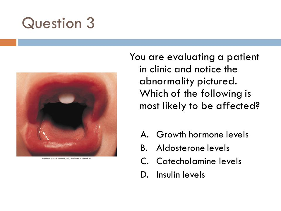 Question 3 You are evaluating a patient in clinic and notice the abnormality pictured. Which of the following is most likely to be affected
