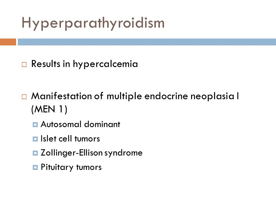 Hyperparathyroidism Results in hypercalcemia