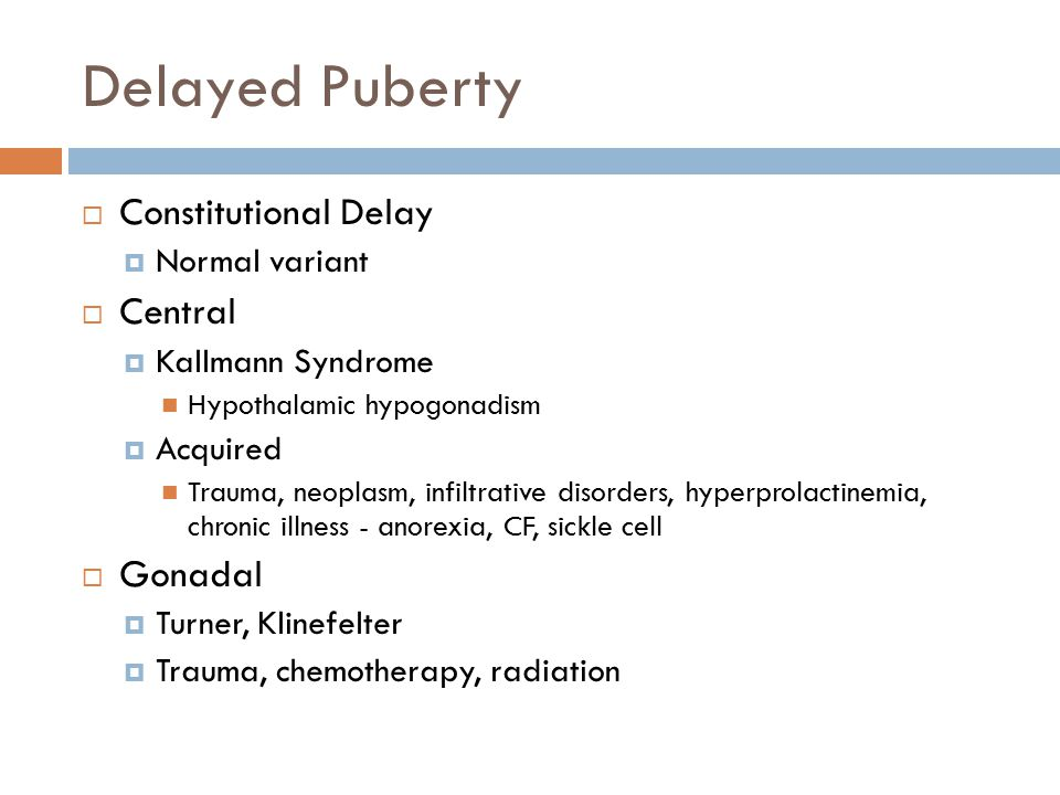 Delayed Puberty Constitutional Delay Central Gonadal Normal variant