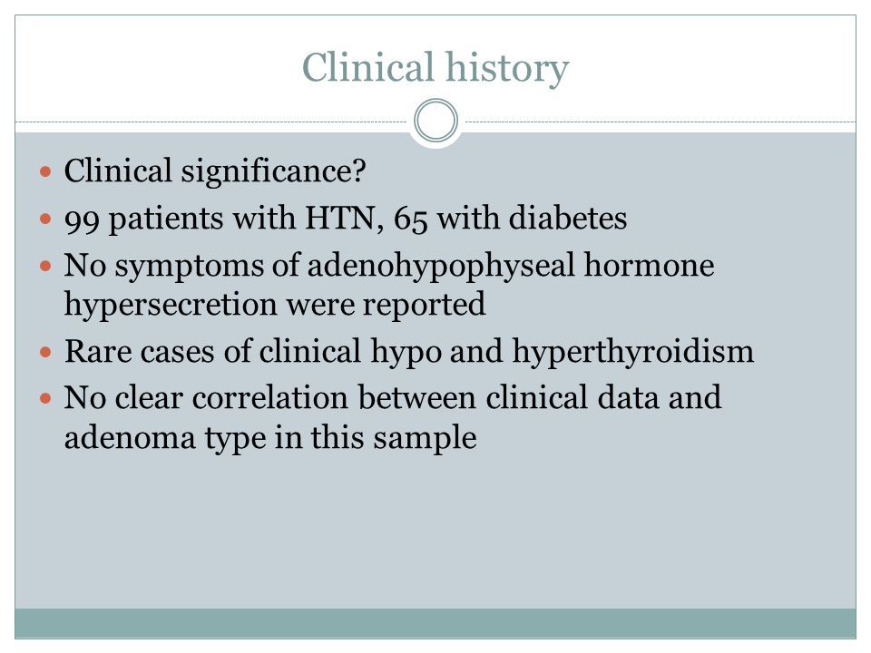 Clinical history Clinical significance
