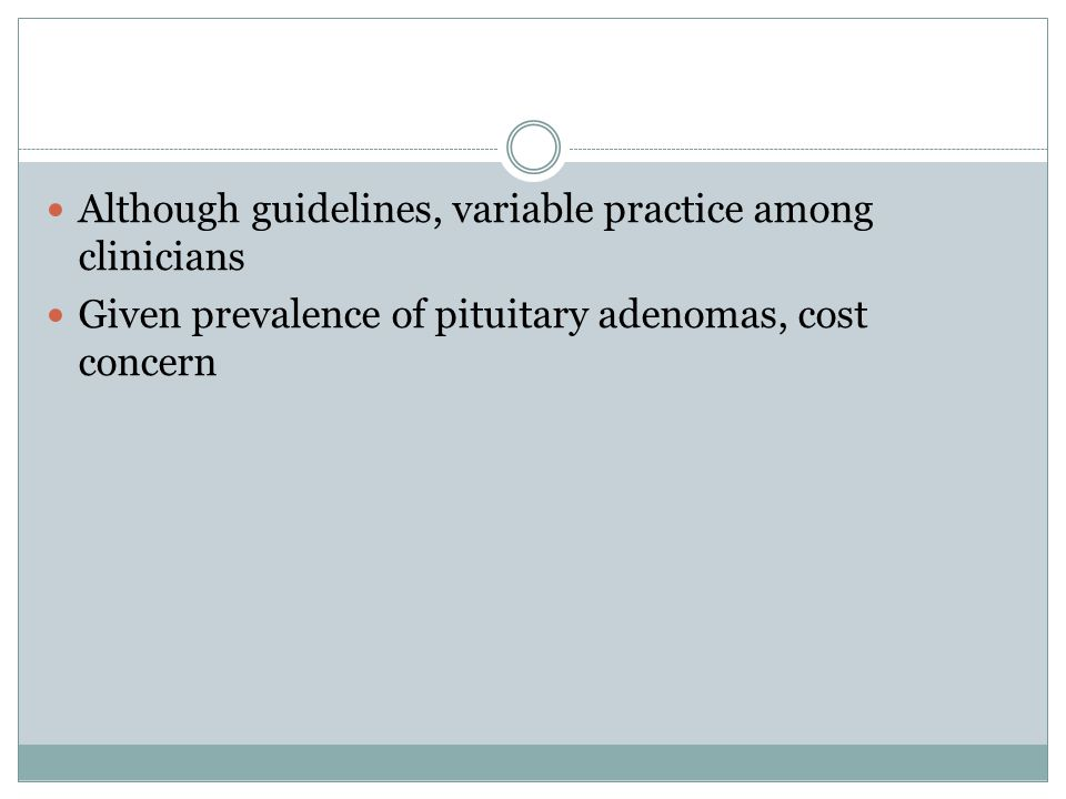 Although guidelines, variable practice among clinicians