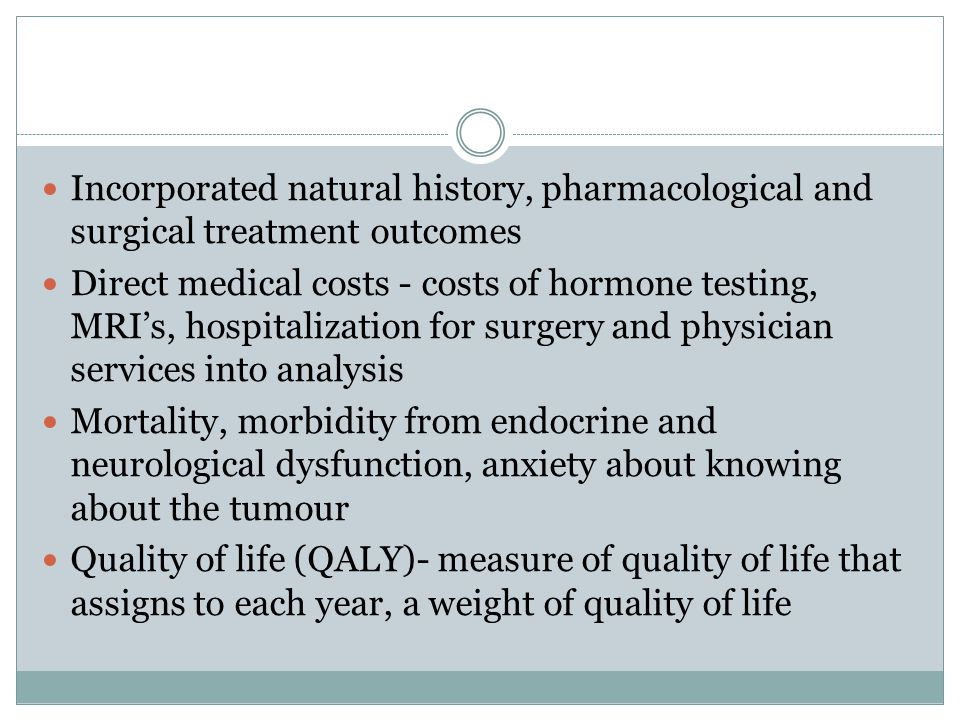 Incorporated natural history, pharmacological and surgical treatment outcomes