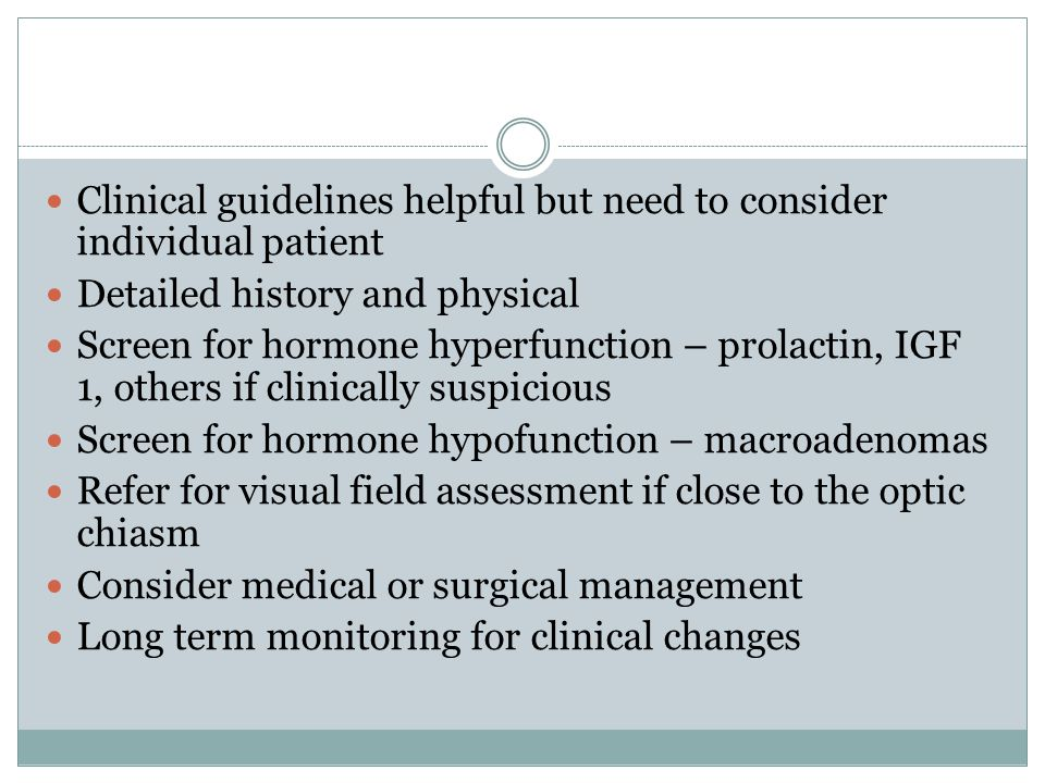 Clinical guidelines helpful but need to consider individual patient
