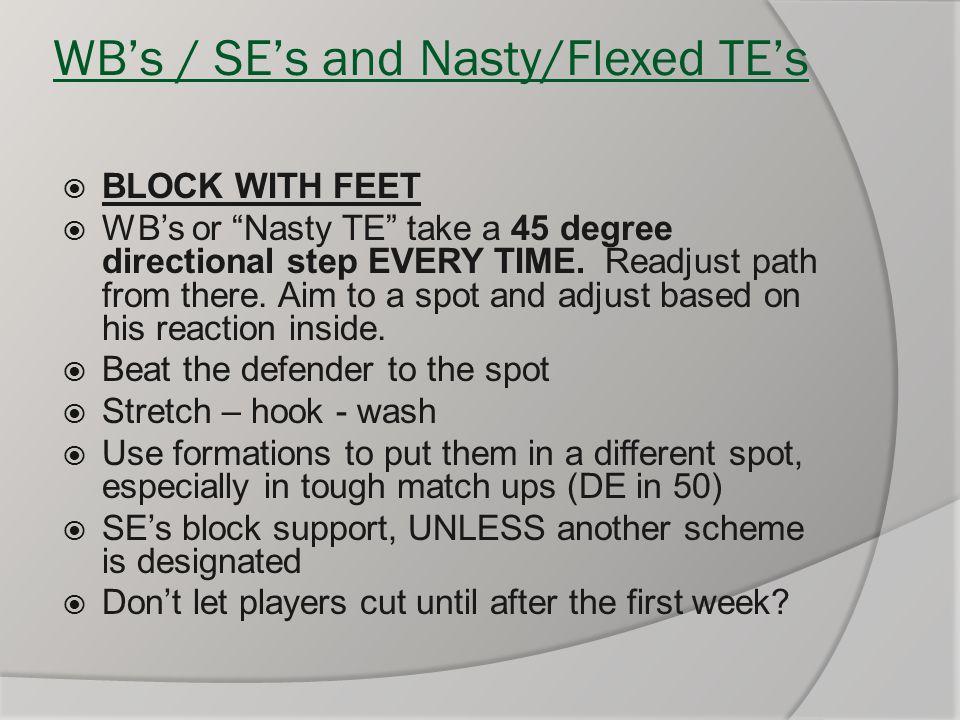 WB's / SE's and Nasty/Flexed TE's