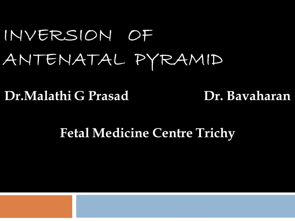 INVERSION OF ANTENATAL PYRAMID