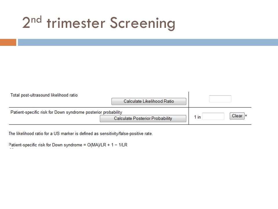 2nd trimester Screening