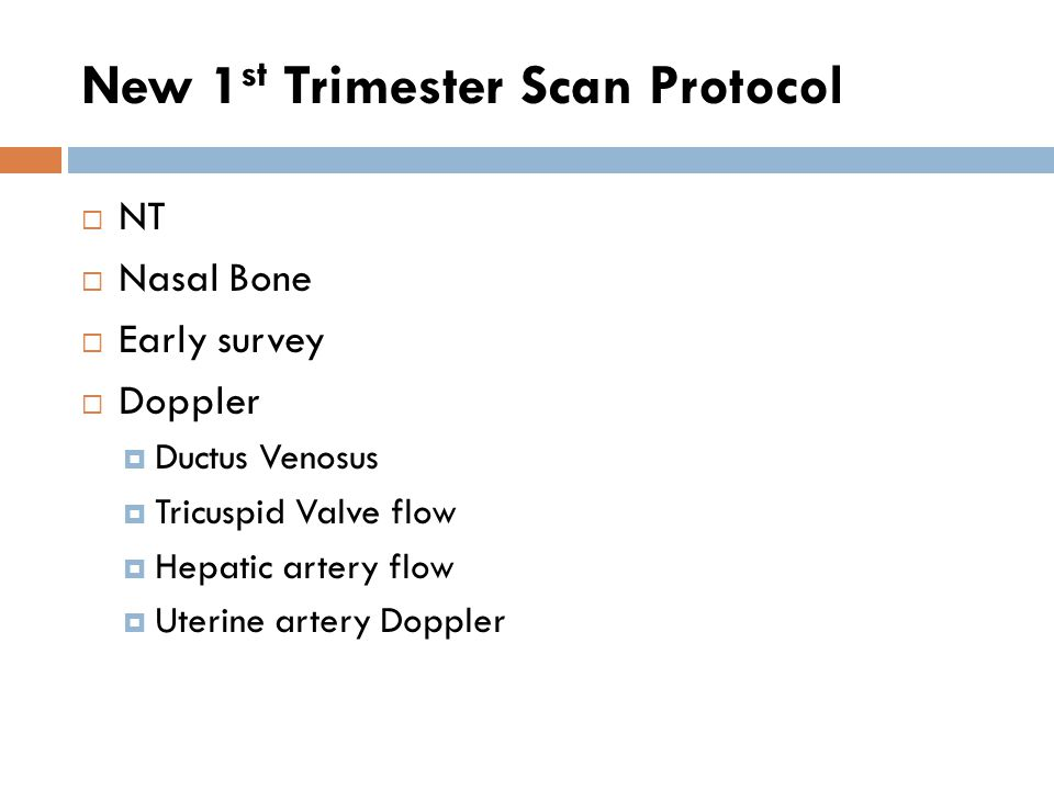 New 1st Trimester Scan Protocol