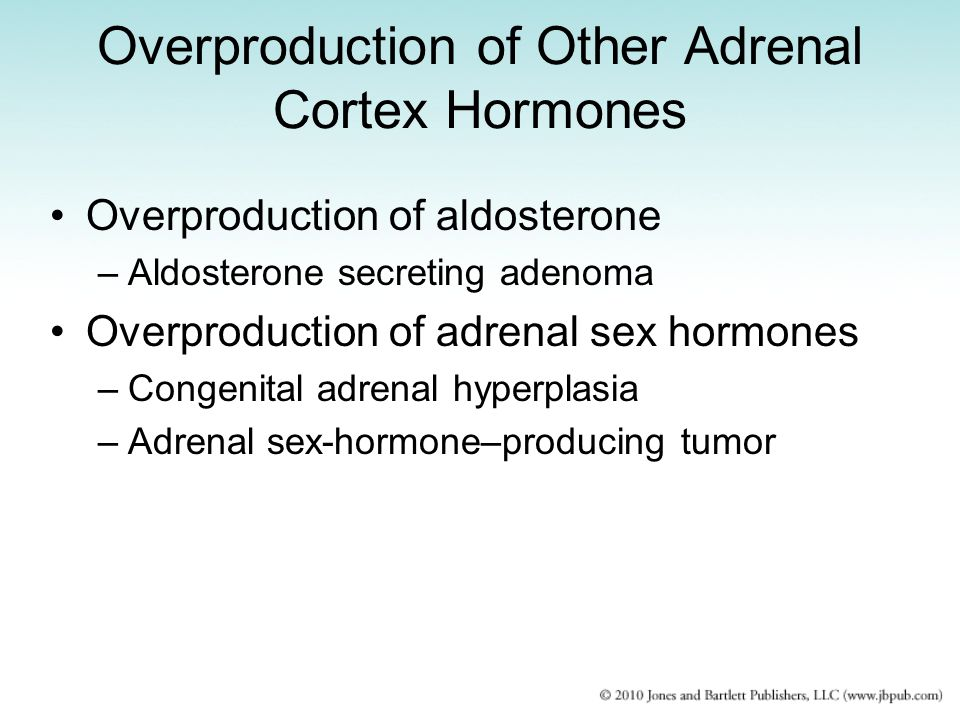 Overproduction of Other Adrenal Cortex Hormones