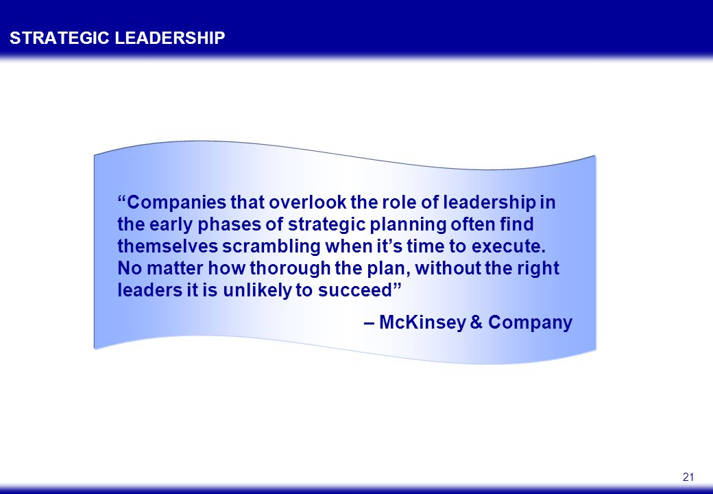 BOTH SENIOR AND MIDDLE MANAGERS PLAY KEY ROLES