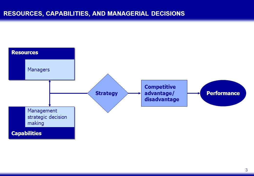 RESOURCES AND CAPABILITIES: FUNDAMENTAL BUILDING BLOCKS OF STRATEGY