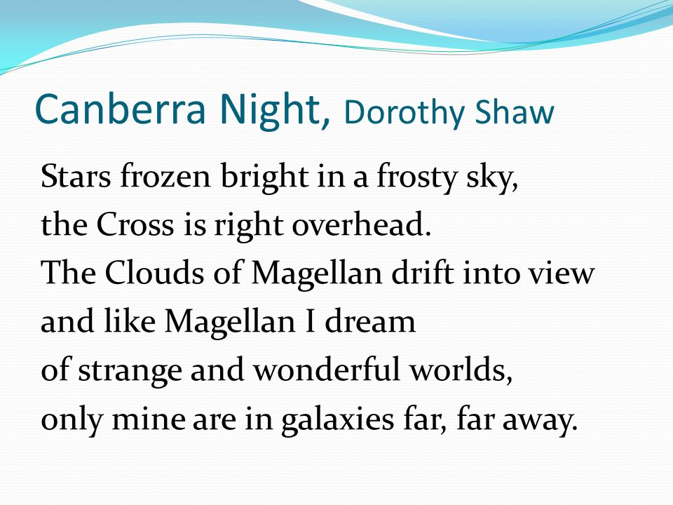 Canberra Night, Dorothy Shaw