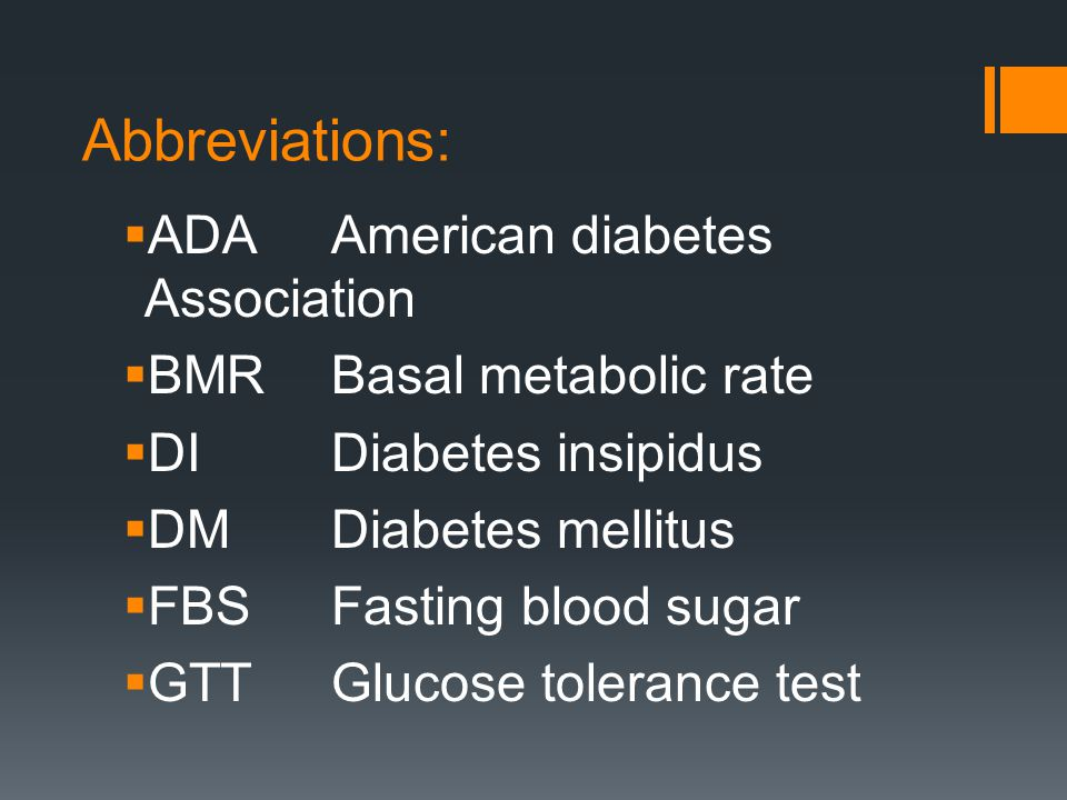 Abbreviations: ADA American diabetes Association