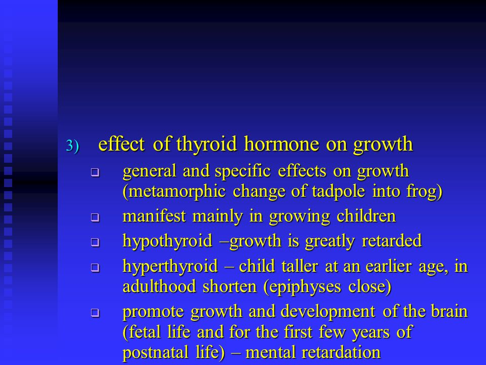 effect of thyroid hormone on growth