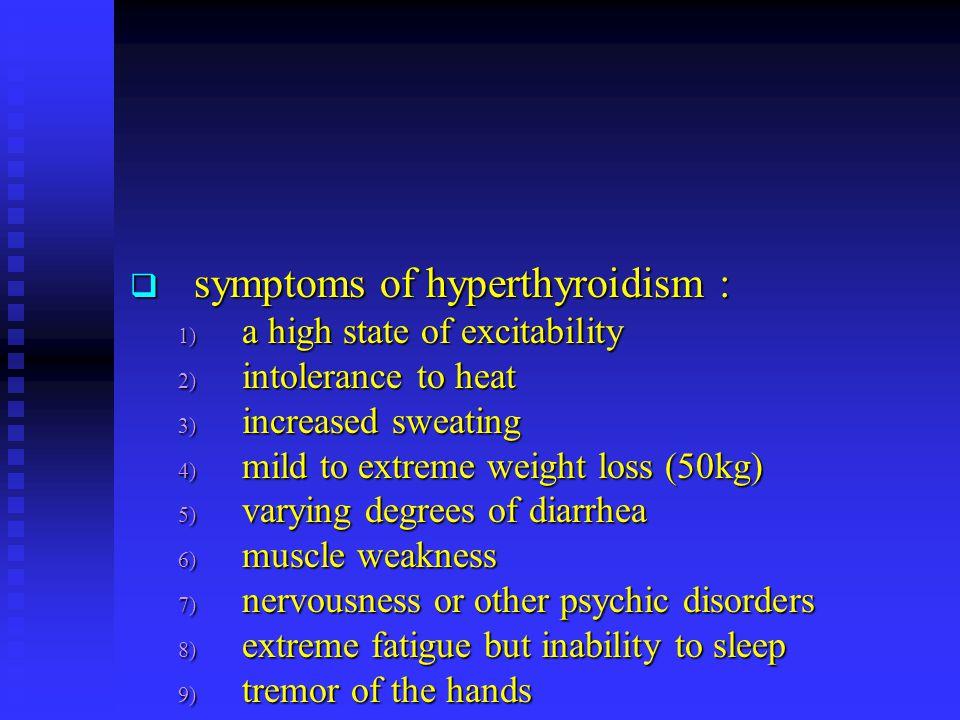 symptoms of hyperthyroidism :